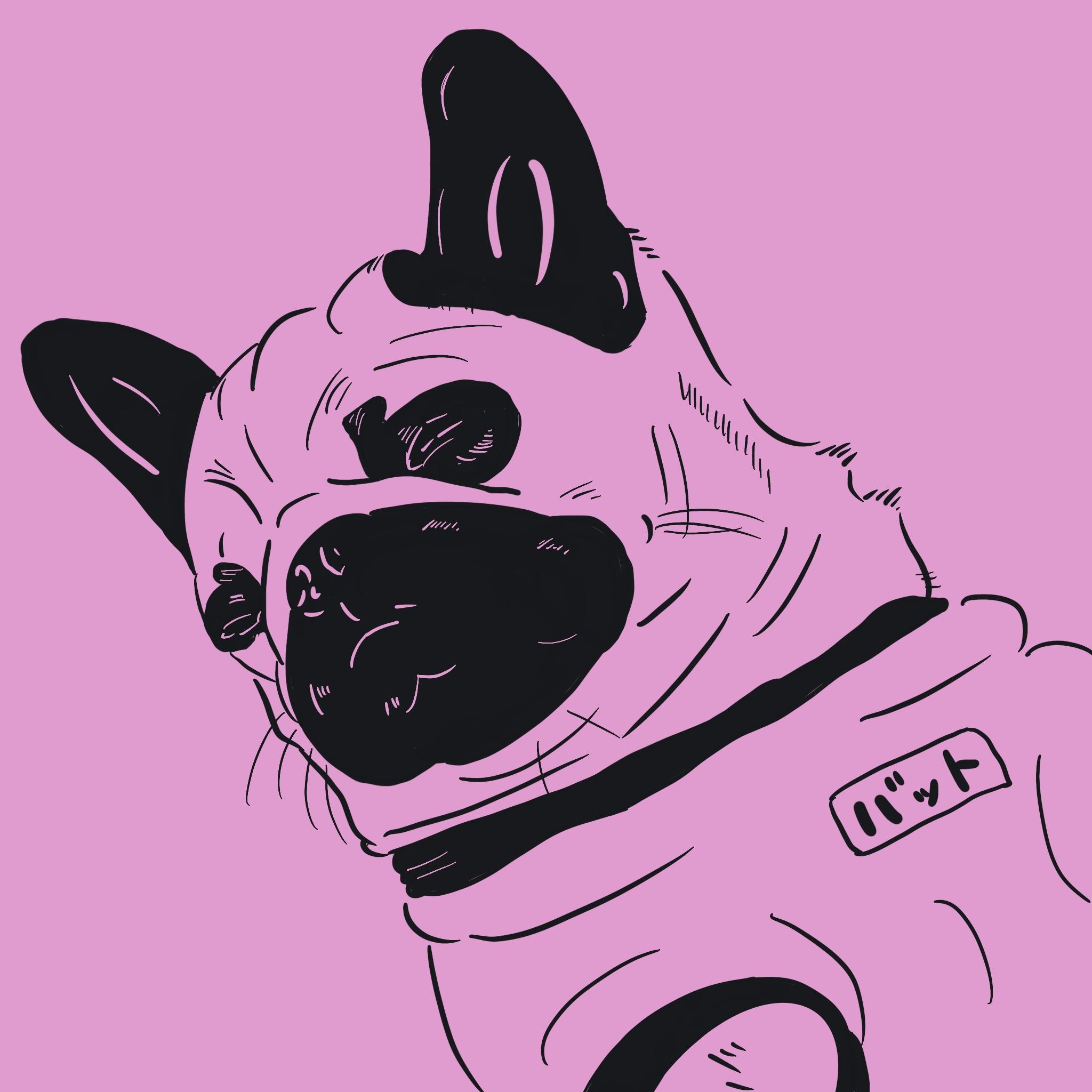 101匹ワンちゃんを描いてみて思ったこと Pug Peace